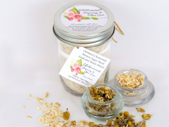 Oatmeal Chamomile Bath Soak With Tea Bags 8 Oz