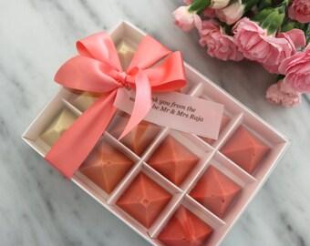 Ombrè & Rainbow Pyramid Box | Medium - Large