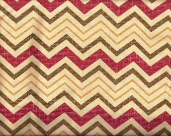 Yellow Red Tan Gold Chevron Curtain Valances