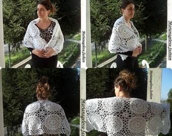 Belle manteau - écharpe /crochet