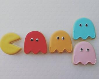 Pac-Man sugar cookies (12)