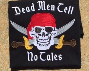 Pirate Applique Shirt Disney World Pirate's of the Caribbean Shirt