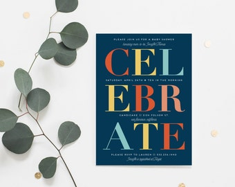 CELEBRATE Baby Invitations