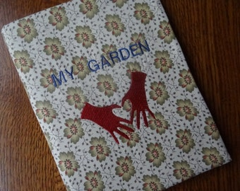 My Garden Fabric Covered Journal