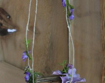 Fairy Swing by Olive* ~Bellflower and Hydrangea Terrarium Accessories, Fairy Swing, Miniature Garden