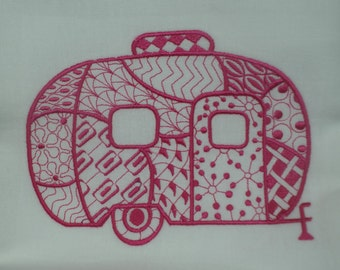 Retro Campers Air Stream Style Single Dish Towels (Mix N Match Available)