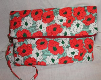 Floral Wristlet For Day or Evening, Clutch