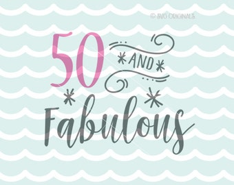 50th Birthday Svg Etsy