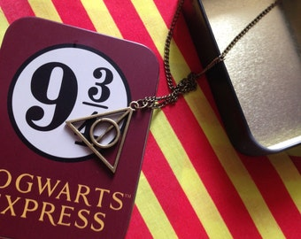 Un-official Merchandise Bronze Deathly Hallows Necklace