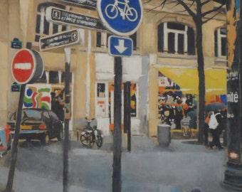 Area of the clock Paris