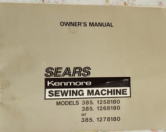 kenmore instruction manual