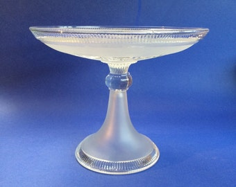 Antique Victorian John Meir and Son English Staffordshire Crystal Fruit Bowl Vintage