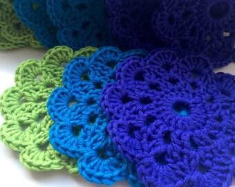Vibrant Crochet Coasters - Set of 6