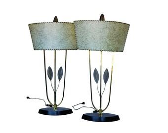 Pair of Majestic Eccentric American Mid Century Lamps