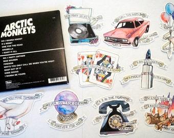 Arctic Monkeys AM Full Sticker Set