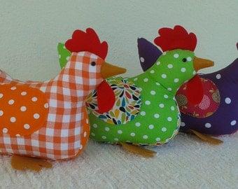 Handmade Cheeky Chickens