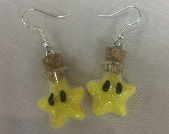 Mario super star earrings