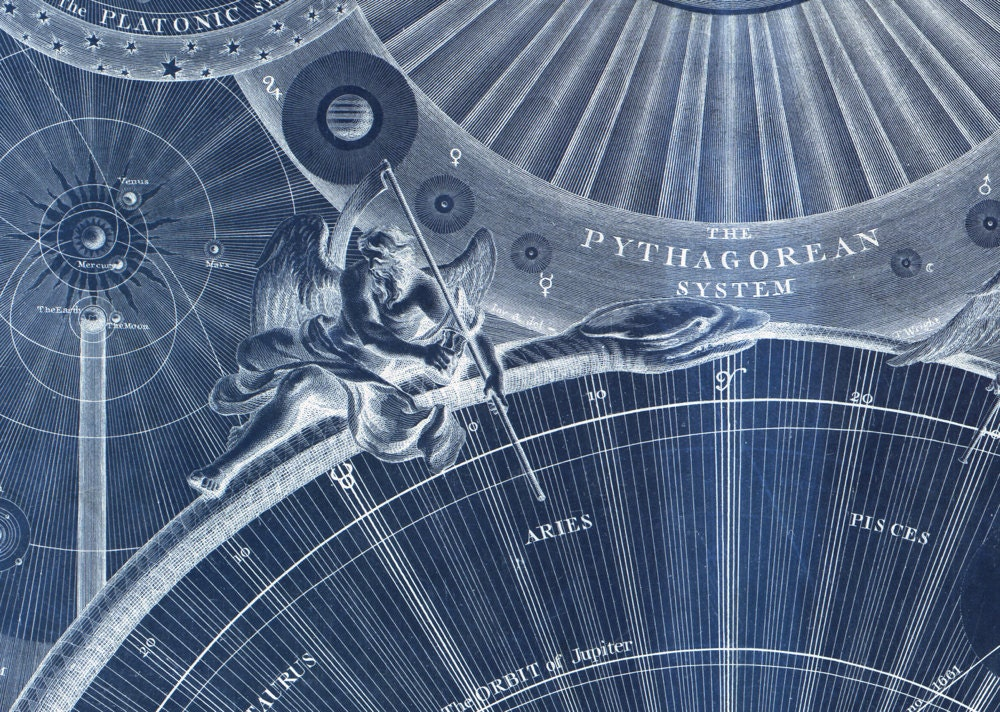 Celestial Map of the Universe in BLUE - Astronomy Art ...