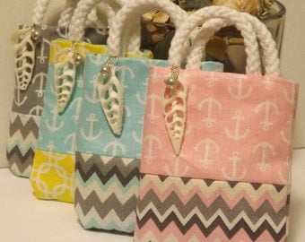 Mini Beach Bags | Set of 4 |  Embellished | for Jewelry Gifts | Gift Cards | Party Favors | Gifts | All Presentations