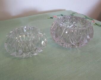 Glass Trinket Pots