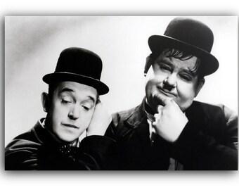 Laurel and Hardy Canvas Art Print A1 A2 A3 A4