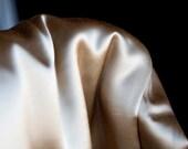 Beige brown vintage silk ...