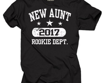 New Aunt 2017 T-Shirt Gift For Aunt Tee Shirt Birthday Gift