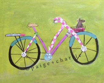 Bicycle Dog in Basket