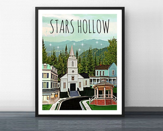 STARS HOLLOW 5 - gilmore girls - art print - rory - stars hollow - coffee - dragonfly - connecticut - mother - daughter - diner - lorelai