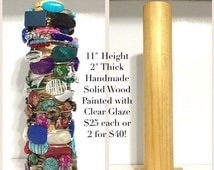 Bangle Bracelet Wood Holder -Jewelry Organizer Storage Handmade Tower
