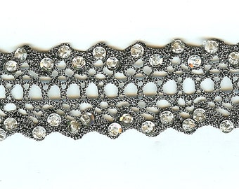 silver trim, sequin trim. silver sequin trim. sequin ribbon. embellished trim. antique trim.