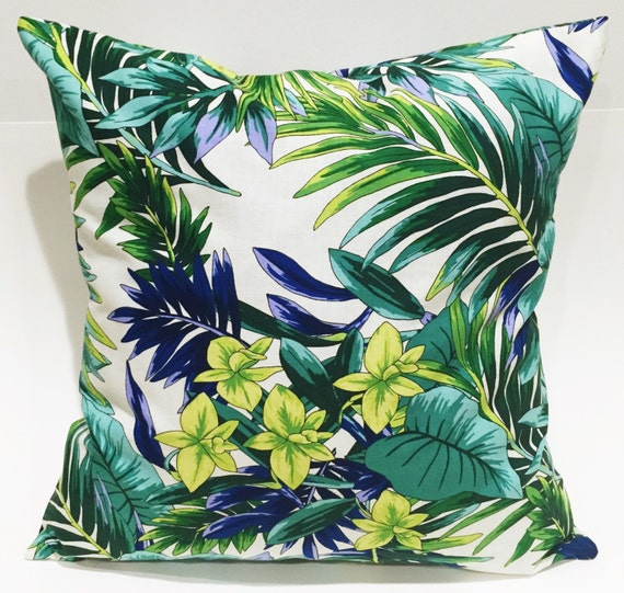 Tropical Throw Pillow Covers : Tropical Pillow cover 18x18 throw pillow cover by EclecticGypsyCo