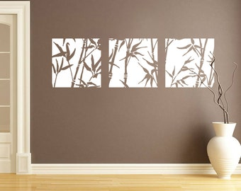 Ordinaire Bamboo Canvas Style Wall Sticker   Contemporary   Vinyl Decal