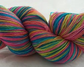 Self-Striping Sock/Fingering weight Hand Dyed  Merino Superwash/Nylon Yarn 100 grams - Cushions, Cats and a Couch Potato colourway