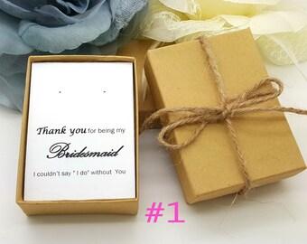Bridesmaid Earrings Gift,Bridesmaid Earrings Gift Box, Message Jewelry Gift Box  #1