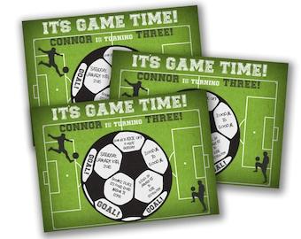Soccer Printable Invitation - Soccer Birthday Invitations - Soccer Invite  - Soccer Party - Football Invitation - Sports Birthday Boys