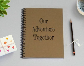 Couples Journal, Our Adventure Together - 5 x 7 Journal, Love Diary, Love Journal, Couples Scrapbook, Adventure Notebook, Adventure, Journey