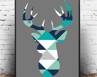 Framework - head of deer framed in various format perfect for child