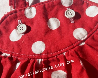 Red and White Polka Dot Baby Girl Toddler Valentine's Day Dress