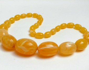 Vintage celluloid eggyolk necklace