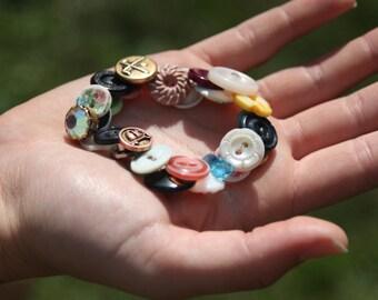 Custom-made Vintage Button Bracelet: The Brandi