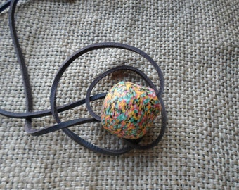 Colorful krobo necklace