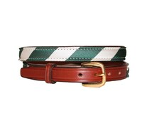 Green and White Stripe Belt