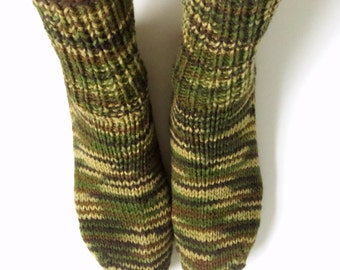 Hand Knitted Socks for Men. 100% Acrylic. Size 9-10.