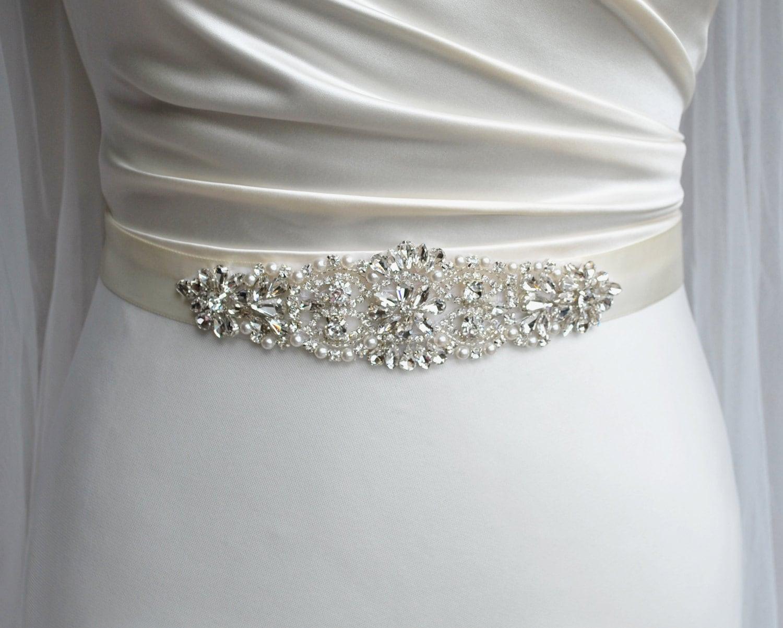 bridal belt wedding belt bridal sash rhinestone belt