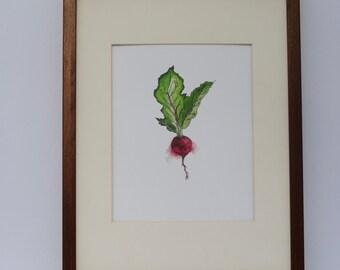 Original Watercolour Beet Print *FREE SHIPPING in North America*