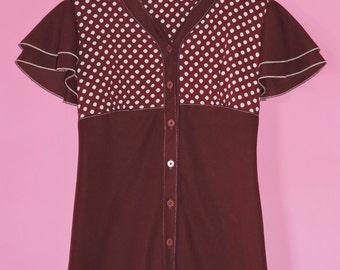 Fun Vintage 1960's Polka Dot Dress