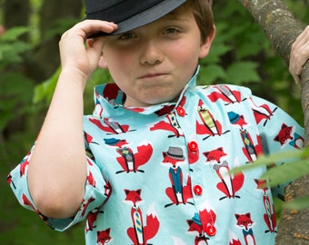 Boys Button Down Shirt, Boys Dress Shirt, Short Sleeve Shirt, Toddler 2t, 3t, 4t; Boys 5, 6, 7, 8, 10