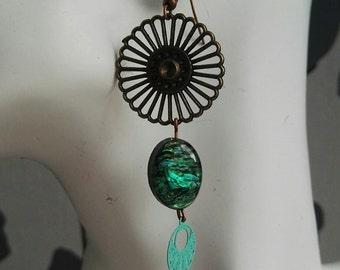 a beautiful pair of earrings * Sun blue *.