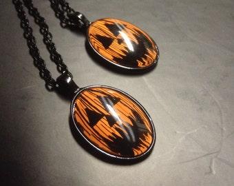 Long Jack Halloween Cabochon Necklace